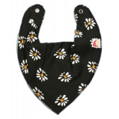 DryBib Bandana Bib - Flowers on Black