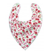DryBib Bandana Bib - Strawberry Flowers