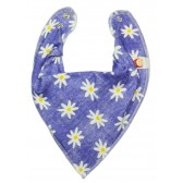 DryBib Bandana Bib - Flowers On Demin